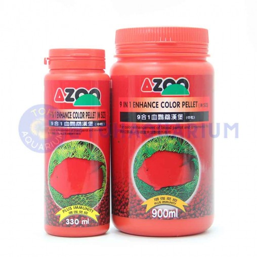 Azoo 9 in 1 Enhance Colour Parrot Fish Pellet (Options Available)