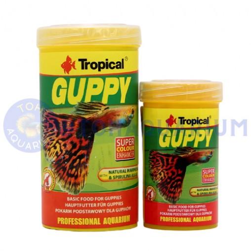 Tropical Guppy Super Colour Enhancer Flakes (Options Available)