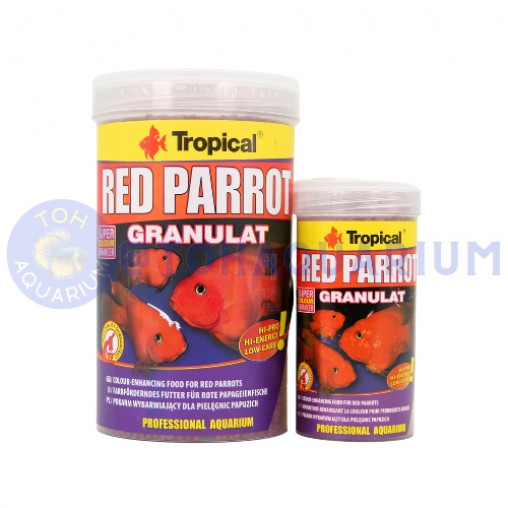Tropical Red Parrot Granulat Floating Mini Pellet (Options Available)