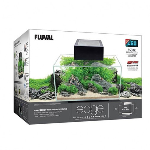Fluval Edge Glass Aquarium Kit 23L WHITE