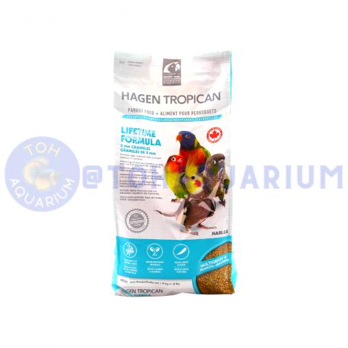 Hagen Tropican Lifetime Formula Granules for Cockatiels 2mm 1.8 kg