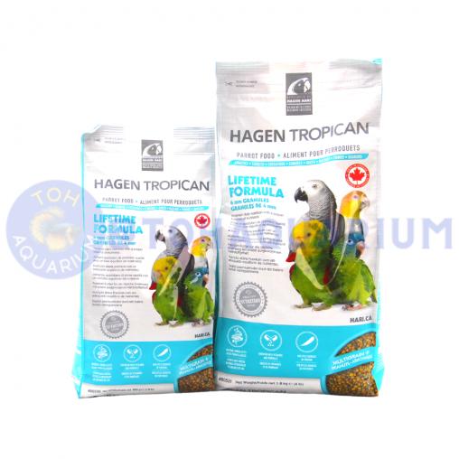 Hagen Tropican Lifetime Formula Granules for Parrots (Option Available)