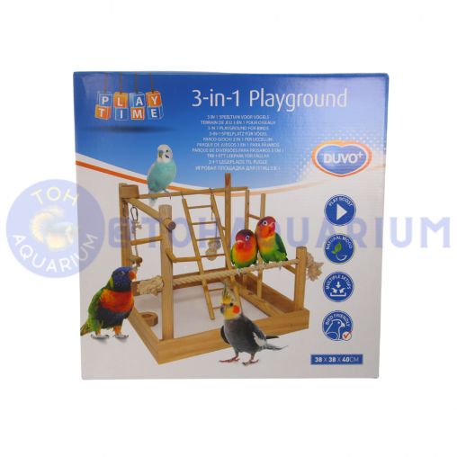 LAROY 3 in 1 Bird Playground 38x38x40.5cm