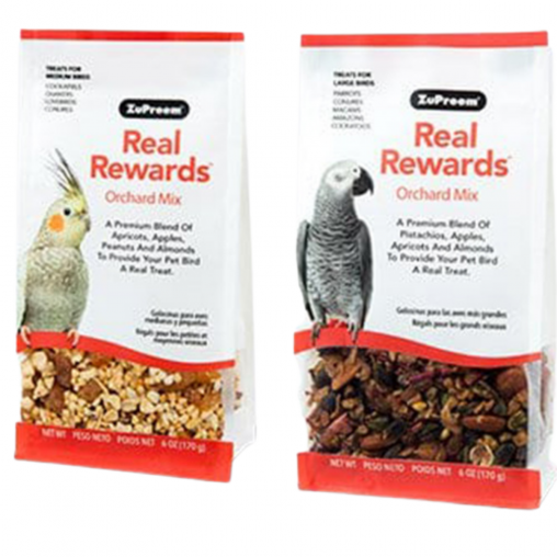 ZuPreem Real Rewards Orchard Mix Treats (Options Available)
